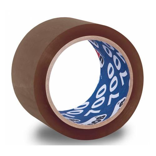 Упаковка клейкой ленты Unibob 700, упаковочная, коричневый, 50мм, 66м, 47мкм, полипропилен [41163] 6 шт./кор.