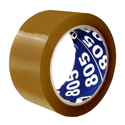 Клейкая лента упаковочная Unibob 805 41170 коричневая шир.50мм дл.66м морозостойкая 6 шт./кор. клейкая лента упаковочная двусторонняя unibob 41147 шир 50мм дл 25м полипропилен 36 шт кор