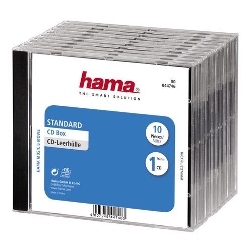 Коробка HAMA H-44746 Jewel Case, 10шт., прозрачный [00044746]