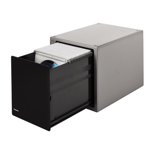 Фото - Коробка HAMA H-48318 Magic Touch, серебристый+черный, для 80 дисков [00048318] портмоне hama h 11615 черный для 32 дисков [00011615]