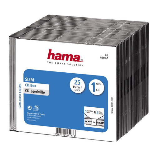 Фото - Коробка HAMA H-51167 Slim Box, 25шт., прозрачный+черный [00051167] футболка wearcraft premium slim fit printio мистер мисикс рик и морти