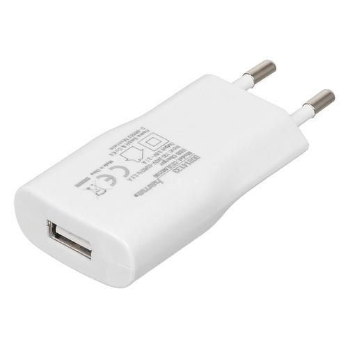 Сетевое зарядное устройство HAMA Piccolino H-14133, USB, 2.1A, белый запчасти для mp3 плееров