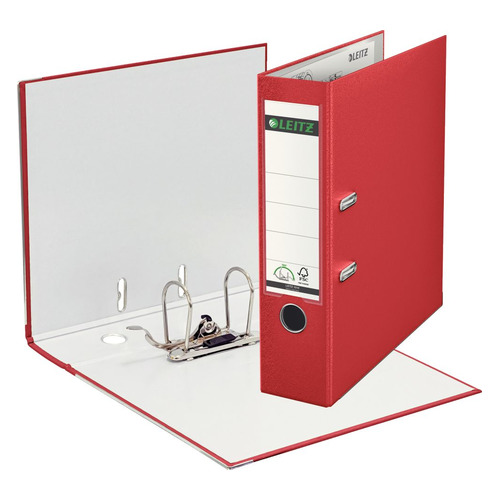 цена на Папка-регистратор Esselte Leitz 10101225P A4 80мм пластик красный