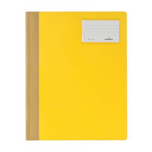 Папка-скоросшиватель Durable 2500-04 A4+ ПВХ желтый 25 шт./кор. цены