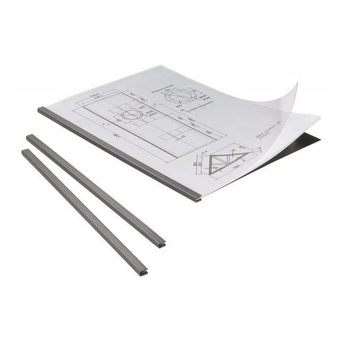 Набор для брошюровки DURABLE Duragrip, 5 скрепкошин/5 обложек, пластик, 20 лист., черный [2942-01]