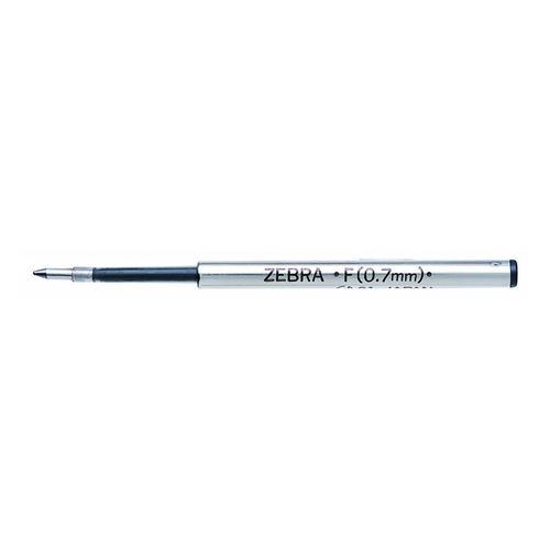 Стержень для шариковых ручек Zebra F (BR-1B-F-BK) 0.7мм черный 12 шт./кор. набор ручек berlingo f 10 автоматических шариковых 4шт синие 0 7мм