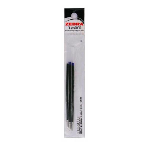 Фото - Упаковка стержней для шариковых ручек ZEBRA OLA, 1мм, синий 24 шт./кор. упаковка шариковых ручек zebra z grip basics 1мм черный 12 шт кор