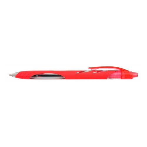 Ручка шариковая Zebra OLA (BP123-R) авт. 1мм резин. манжета красный 12 шт./кор. цена