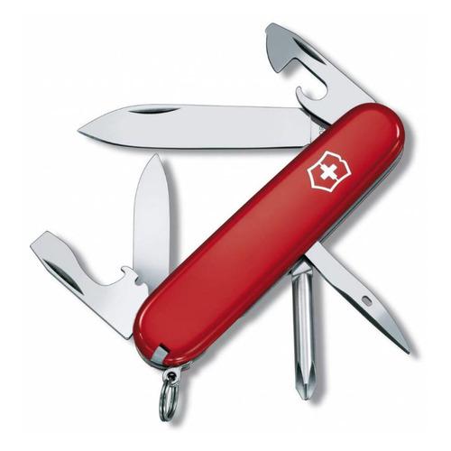 Складной нож VICTORINOX Tinker, 12 функций, 91мм, красный нож перочинный victorinox deluxe tinker 1 4723 91мм 17 функций красный