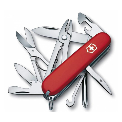 цена на Складной нож VICTORINOX Deluxe Tinker, 17 функций, 91мм, красный