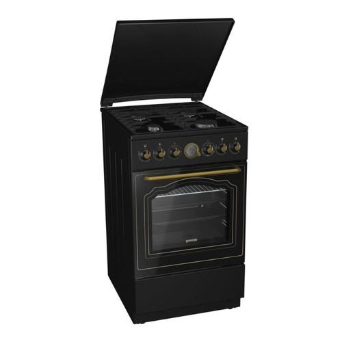 Газовая плита GORENJE GI52CLB, газовая духовка, черный газовая плита gorenje gi5121wh газовая духовка белый