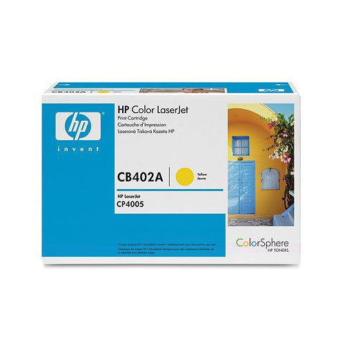 Картридж HP 642A, желтый [cb402a]
