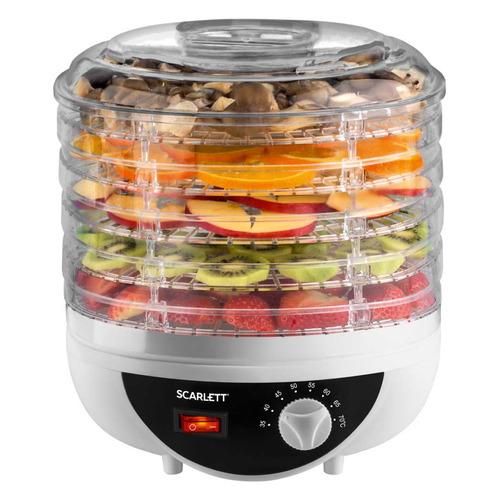 Сушилка для овощей и фруктов SCARLETT SC-421, белый, 5 поддонов