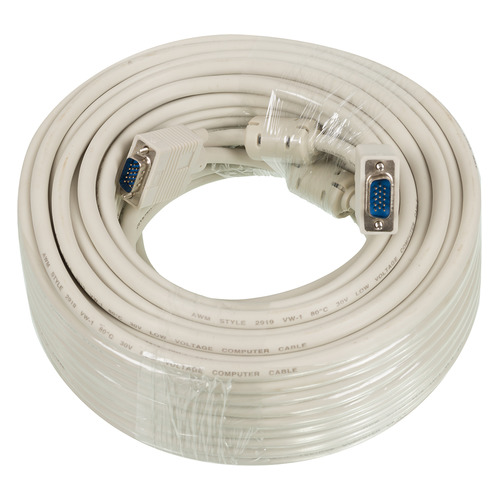 Фото - Кабель SVGA NINGBO CAB016S, VGA (m) - VGA (m), ферритовый фильтр , 30м кабель vga 3 0м gembird premium тройной экран ферритовые кольца