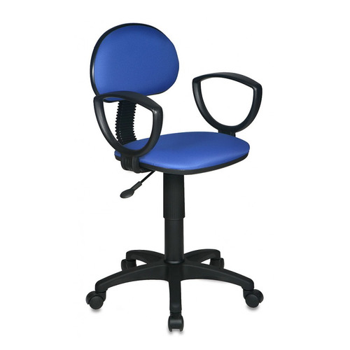 Кресло БЮРОКРАТ CH-213AXN, на колесиках, ткань, синий [ch-213axn/15-10] кресло компьютерное бюрократ бюрократ ch 213axn 15 10