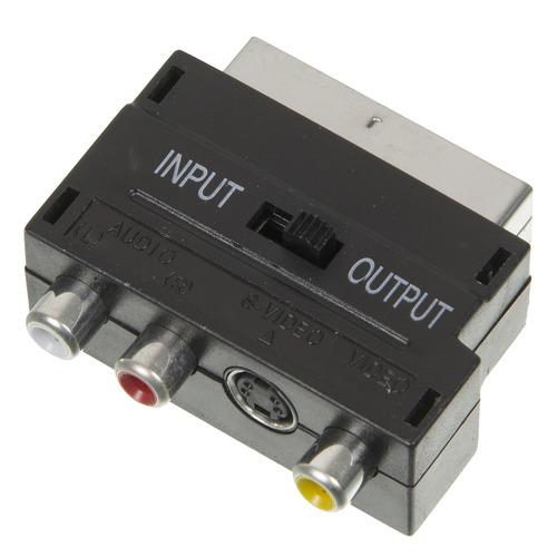 Фото - Адаптер аудио-видео NINGBO SCART (m) - 3хRCA (f) , S-VIDEO (f), черный [jsp005] адаптер аудио ningbo jaaa095 b 2xjack 3 5 f jack 3 5 m черный