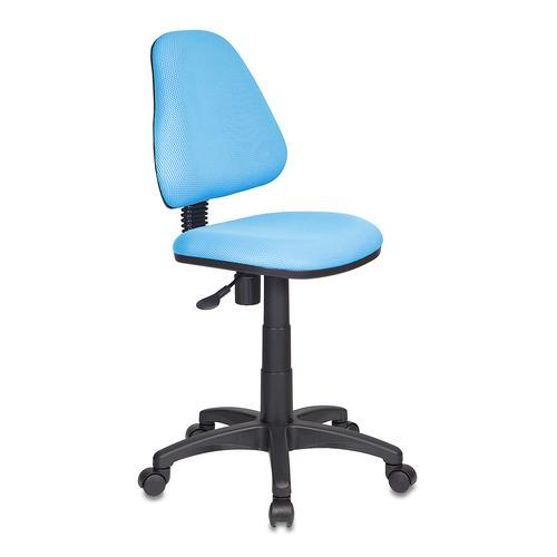 Кресло детское БЮРОКРАТ KD-4, на колесиках, ткань, голубой [kd-4/tw-55]
