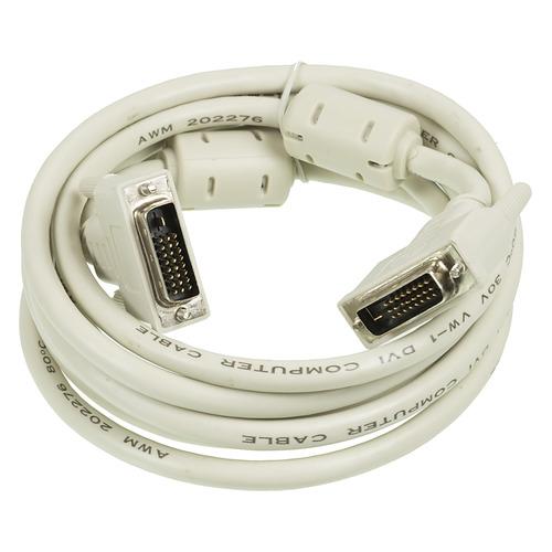 Фото - Кабель DVI NINGBO DVI-D Dual Link (m) - DVI-D Dual Link (m), ферритовый фильтр , 3м, блистер, серый [rd-dvi-3-br] кабель dvi dvi 3 0м exegate позолоченные контакты ex191095rus