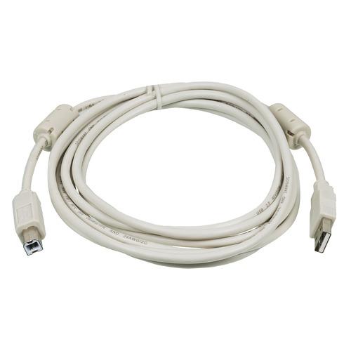 Фото - Кабель USB2.0 NINGBO USB A(m) - USB B(m), ферритовый фильтр , 3м, серый [usb2.0-am/bm-3m-mg] кабель удлинительный usb 2 0 am af 1 8м konoos позолоченные контакты с ферритовыми кольцами
