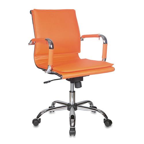 Кресло руководителя БЮРОКРАТ CH-993-Low, на колесиках, искусственная кожа, оранжевый [ch-993-low/orange] бюрократ ch 993 оранжевый