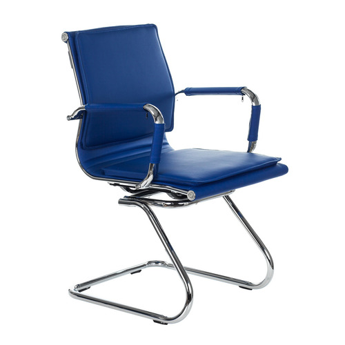 Фото - Кресло БЮРОКРАТ CH-993-Low-V, на полозьях, искусственная кожа, синий [ch-993-low-v/blue] кресло бюрократ ch 993 low v ivory