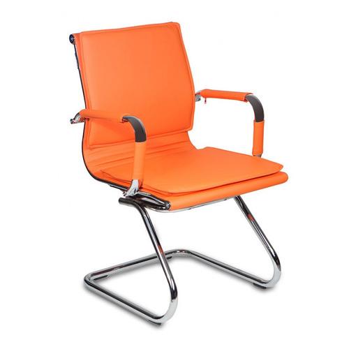 Кресло БЮРОКРАТ CH-993-Low-V, на полозьях, искусственная кожа, оранжевый [ch-993-low-v/orange] бюрократ ch 993 оранжевый