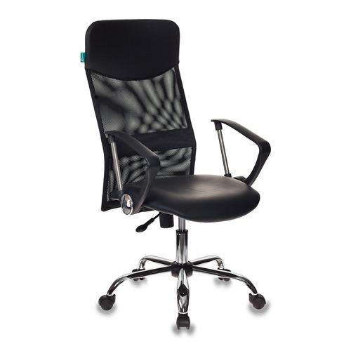 лучшая цена Кресло руководителя БЮРОКРАТ CH-600, на колесиках, искусственная кожа, черный [ch-600/or-16]