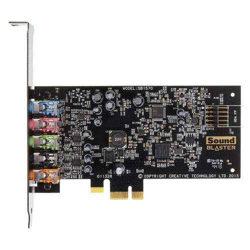 Звуковая карта PCI-E CREATIVE Audigy FX, 5.1, Ret [70sb157000000] звуковая карта pci e creative audigy rx 7 1 ret [70sb155000001]
