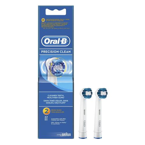 Сменные насадки для электрической зубной щетки ORAL-B Precision Clean 2 шт [81317994] насадки oral b 3d white 2 шт oral b