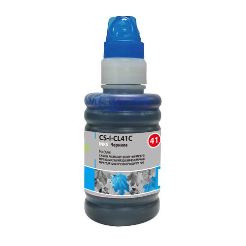 Чернила CACTUS CS-I-CL41C, для Canon, 100мл, голубой чернила cactus cs i cl41c для canon 100мл голубой