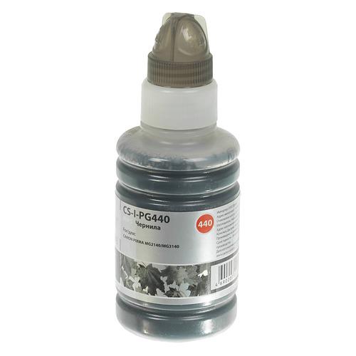 Чернила CACTUS CS-I-PG440, для Canon, 100мл, черный чернила cactus cs i cl41c для canon 100мл голубой