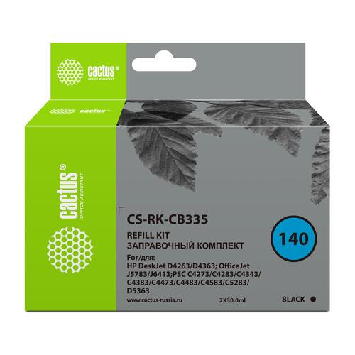 Заправочный комплект CACTUS CS-RK-CB335, для HP, 30мл, черный  - купить со скидкой