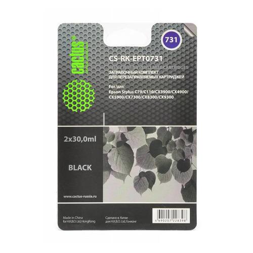 цена на Заправочный комплект CACTUS CS-RK-EPT0731, для Epson, 30мл, черный