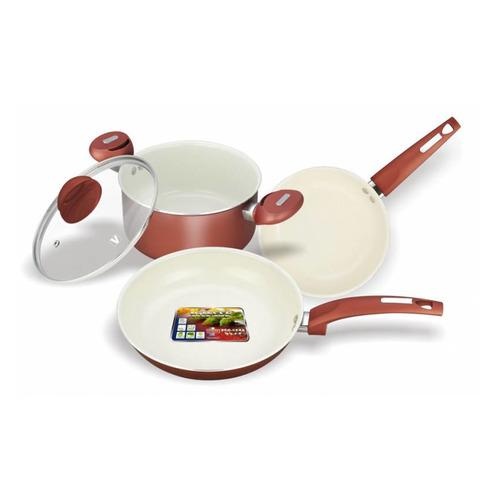 Набор посуды VITESSE VS-2216, 4 предмета сковорода d 24 см kukmara кофейный мрамор смки240а