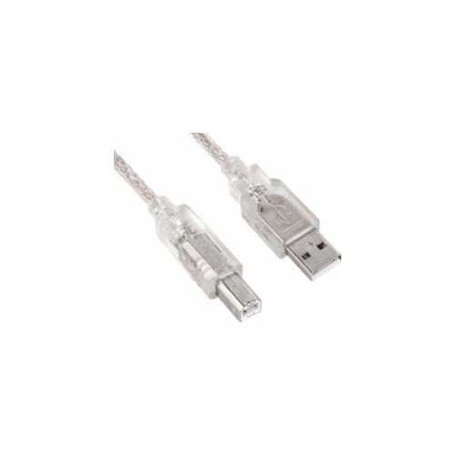 Фото - Кабель USB2.0 NINGBO USB A(m) - USB B(m), 3м, серебристый кабель
