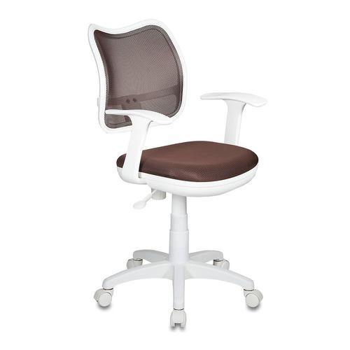 купить Кресло детское БЮРОКРАТ CH-W797, на колесиках, ткань, коричневый [ch-w797/br/tw-14c] дешево