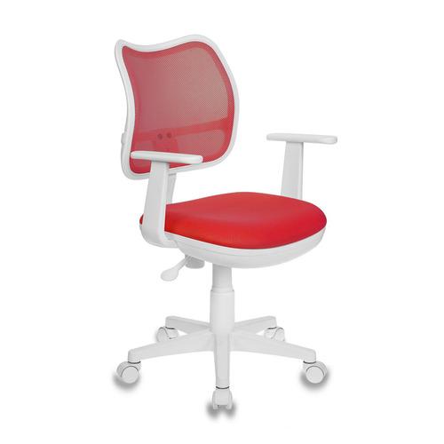 Кресло детское БЮРОКРАТ CH-W797, на колесиках, ткань, красный [ch-w797/r/tw-97n] кресло buro ch 599 r tw 97n спинка сетка красный tw 35n сиденье красный tw 97n