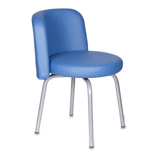 Стул БЮРОКРАТ KF-2, на ножках, искусственная кожа, синий [kf-2/or-03] стул офисный бюрократ kf 2 or 10