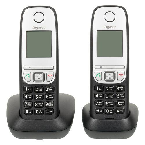 Фото - Радиотелефон GIGASET A415 DUO RUS, черный [l36852-h2505-s301] радиотелефон gigaset a415 белый