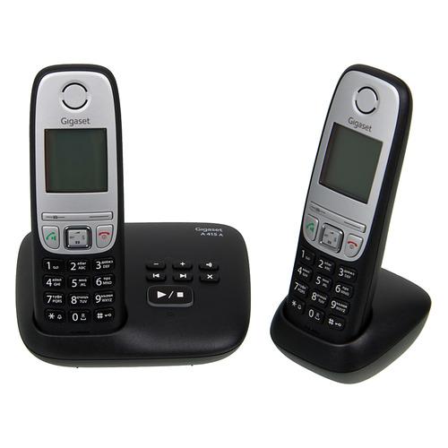 Радиотелефон GIGASET A415A Duo, черный радиотелефон
