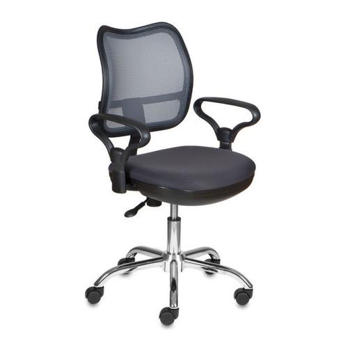 цены Кресло БЮРОКРАТ CH-799SL, на колесиках, ткань, темно-серый [ch-799sl/dg/tw-12]