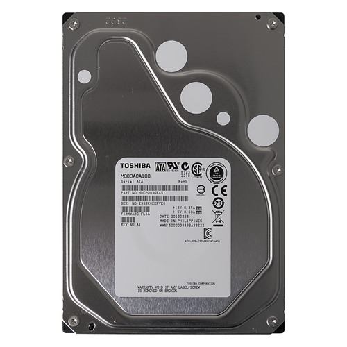 Жесткий диск TOSHIBA Enterprise Capacity MG03ACA100, 1Тб, HDD, SATA III, 3.5 hdd диск