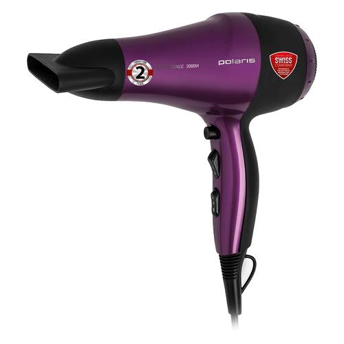 Фен POLARIS PHD 2077i, 2000Вт, фиолетовый и черный