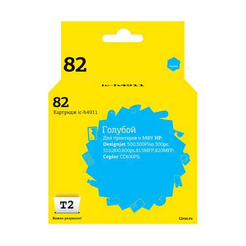 цена на Картридж T2 №82, голубой [ic-h4911]
