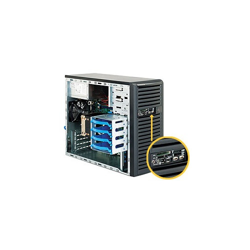 Корпус SuperMicro CSE-731D-300B Mini-Tower 300W черный цены онлайн