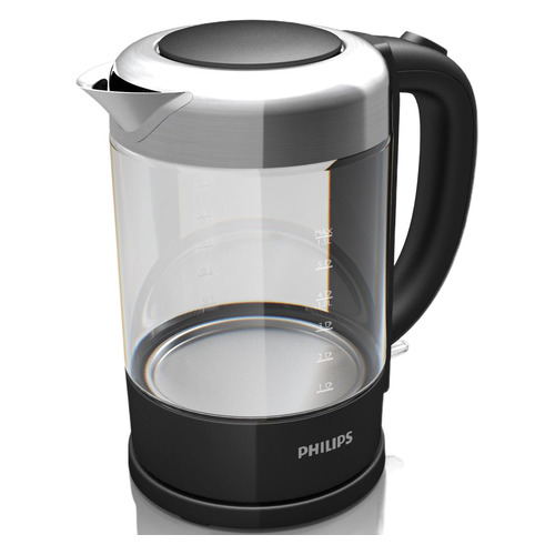 Чайник электрический PHILIPS HD9340, 2200Вт, черный цена и фото