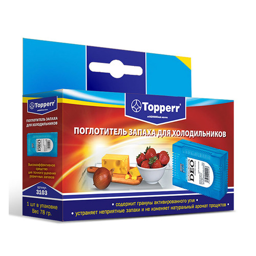 Поглотитель запаха TOPPERR 3103, для холодильников, 78г