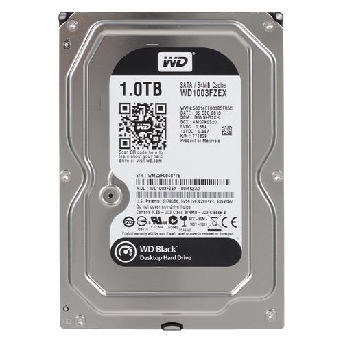 Жесткий диск WD Black WD1003FZEX, 1Тб, HDD, SATA III, 3.5 жесткий диск wd blue wd10ezrz 1тб hdd sata iii 3 5