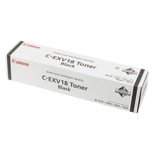 Тонер CANON C-EXV18 (GPR-22), для iR1018/1022, черный, 465грамм, туба тонер canon c exv3 для canon ir2200 2800 3300 туба 0 795 черный 6647a002
