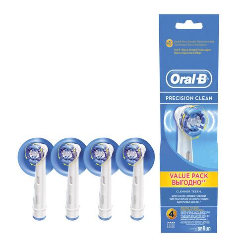 Сменные насадки для зубной щетки ORAL-B Precision Clean 4 шт [81496341] насадки oral b 3d white 2 шт oral b